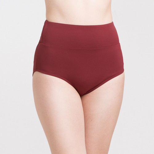 CLASSY VINO ROSSO FULL COVERAGE HIGH WAISTED BOTTOM