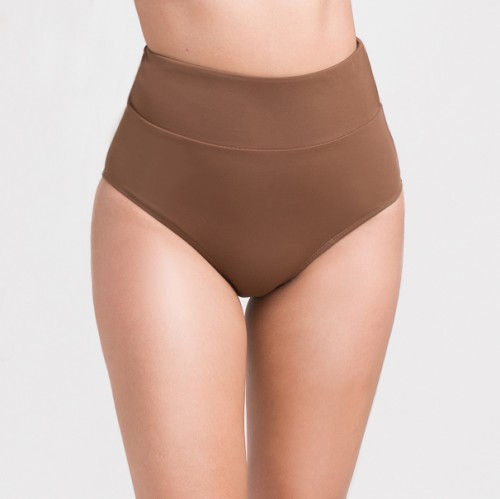CLASSY CHOCO FULL COVERAGE HIGH WAISTED BOTTOM