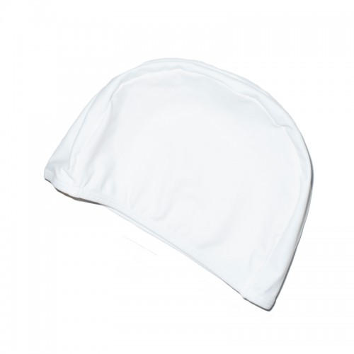 WHITE SWIM CAP
