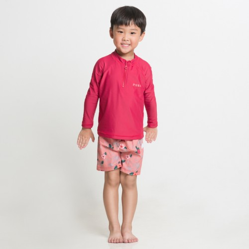 BARBERRY RED BOY'S RASHGUARD