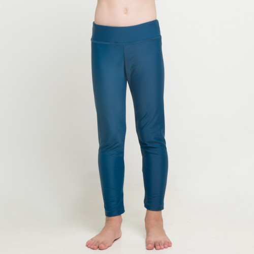 MORROCCAN BLUE GIRLS SWIM LEGGINGS